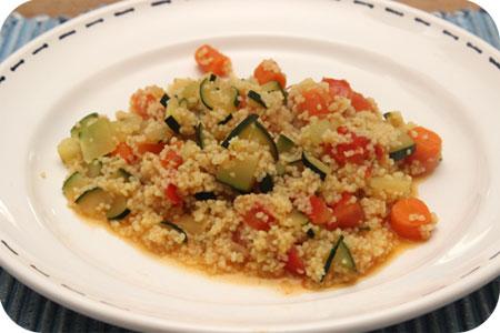 Couscous met Courgette, Wortels en Tomaat