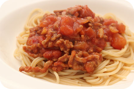 Spaghetti Tomatensaus en Koekjes