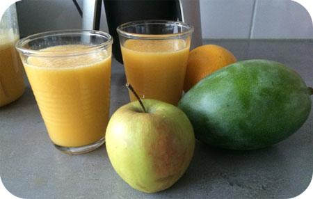 Mangosap met Sinaasappel, Banaan en Appel